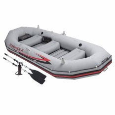 Intex Mariner 4 Boat Set (pompa+dayung) Perahu Karet Dewasa Kapasitas 4 Orang 68376 By Sportsite.