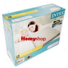 INTEX - Pompa Manual 29cm + Kasur Angin/Kasur Udara/Kasur Tiup FREE KA INTEX Durabeam Double dan Bantal Kepala Tiup Bestway