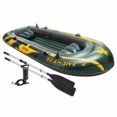 Intex Seahawk 4 Boat Set (pompa+dayung) Perahu Karet Dewasa Kapasitas 4 Orang 68351 By Sportsite.