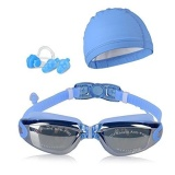 Promo Jdm Swim Goggles Swim Cap Case Klip Hidung Telinga Swimming Goggles Waterproof Mirrored Clear Anti Fog Uv400 Perlindungan Lensa Untuk Pria Dewasa Wanita Youth Kids Intl Jdm Terbaru