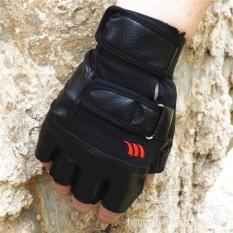Harga Jingle Kulit Pria Olahraga Setengah Berujung Sarung Tangan Wear Resistant Non Slip Kebugaran Merah Muda Outdoor Sarung Tangan Intl Jingle Ori
