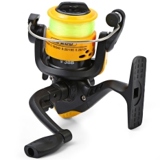 Promo Jl200 Injection Molding Fishing Spinning Reel Folding Arm 3 Ball Bearing 5 2 1 With Fluorescence Fishing Wire Yellow Murah