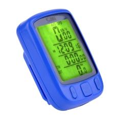 Harga Jo Di Sepeda Sepeda Siklus Nirkabel Speedometer Digital Lcd Kabel Komputer Odometer Led Lampu Latar Biru Satu Set