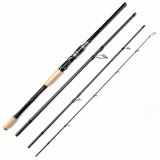 Johncoo 2017 Terbaru Spinning Fishing Rod 2 4 M Karbon Fishing Rod 4 Bagian Perjalanan Batang Pengumpan Diskon Akhir Tahun