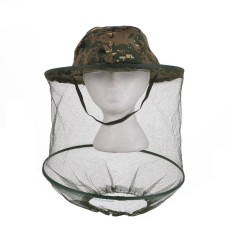 Jungle Camouflage Field Head Face Mesh Mask Cap Mosquito Bee Insect Hat - intl