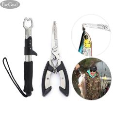 Jual Jvgood Fishing Grip Lip Gripper And Fish Holder With Fishing Pliers Stainless Steel Tools Cutter For All Fishing Including Carp Bass Pike And Trout With Sheath Jvgood