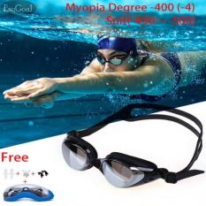 Beli Jvgood Kacamata Renang Minus Myopia Anti Fogging Embun Swim Goggles 2 00 5 00 Nyicil