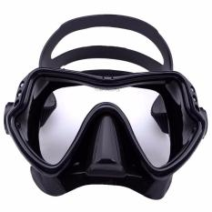 Kacamata Diving Snorkling Mask Tempered Glass Scuba Diving Swimming Snorkling glasses Black