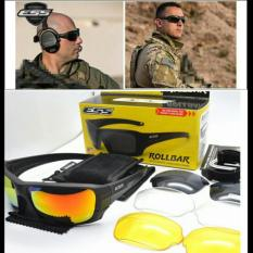 Kacamata ESS ROLLBAR Polarized Tactical Sunglasses 4 Lensa