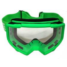 Kacamata Motocross Goggle OSBE Google Trail Hijau Stabilo