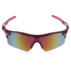 Beli Kacamata Sepeda Bicycle Glasses Mtb Uv 400 Merah Maroon Online Terpercaya