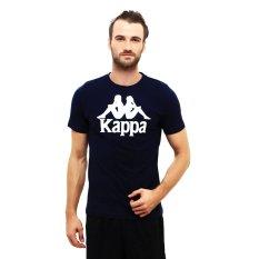 Kappa Shirt Rounded Kaos Olahraga Pria Navy Diskon Akhir Tahun