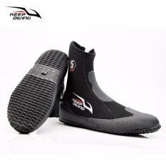 Harga Keep Diving 5Mm Neoprene Scuba Diving Boots Sepatu Air Vulkanisasi Musim Dingin Dingin Proof Tinggi Upper Hangat Sirip Sirip Anti Skid Intl Oem Baru