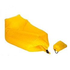 KickinIT Inflatable Air Chair Sofa or Blow up Couch or Camping Air Mattress or Pool Float (Yellow) - intl