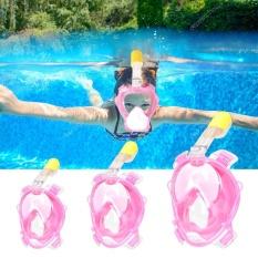 Spesifikasi Anak Anak Penuh Wajah Snorkeling Snorkeling Masker Menyelam Kacamata Dengan Nafas Pipa Untuk Gopro Xs Intl Murah Berkualitas