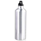 Cuci Gudang Klik Botol Minum Aluminium Botol Minum Olahraga Aluminium 750Ml Dengan Karabiner Silver
