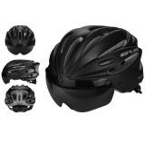 Kobwa Sepeda Bersepeda Helm Dengan Detachable Magnetic Goggles Visor Shield Adjustable Pria Wanita Road Bersepeda Gunung Sepeda Helm Perlindungan Keselamatan Hitam Intl Murah