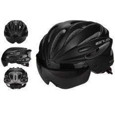 Beli Kobwa Sepeda Bersepeda Helm Dengan Detachable Magnetic Goggles Visor Shield Adjustable Pria Wanita Road Bersepeda Gunung Sepeda Helm Perlindungan Keselamatan Hitam Intl Kredit Tiongkok