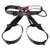Harga Kobwa Setengah Tubuh Climbing Harness Adjustable Safety Gear Peralatan Untuk Mountaineering Fire Rescue Lebih Tinggi Tingkat Caving Panjat Tebing Rappelling Hitam Intl Yang Bagus