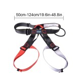 Spesifikasi Kobwa Half Body Climbing Harness Adjustable Safety Gear Equipment For Mountaineering Fire Rescue Higher Level Caving Rock Climbing Rappelling Red Grey Intl Kobwa