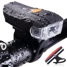 Kobwa USB Charger Lampu Sepeda Lampu Depan USB Rear Light Mountain Bike Night Traffic Set Lampu-Intl