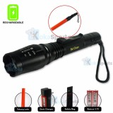 Jual Kokasport Senter Highlight Torch 2 Battery Waterproof Rechargeable Hitam Lengkap