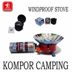 Promo Kompor Bunga Windproof Camping Anti Angin Awet Zt203 Murah