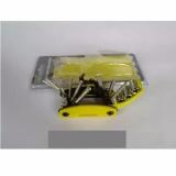 Spesifikasi Kunci Sepeda Murah Bike Tool Kit 15 In 1 Kunci Lipat Untuk Perlengkapan Gowes Warna Kuning Bagus