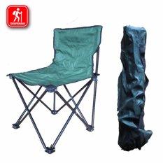 Harga Kursi Lipat Portable Ada Sandaran Untuk Camping Fishing Beban Max 75 Kg Baru Murah