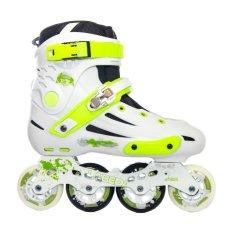 Harga Labeda Sepatu Roda Slalom Inline Skate V5 White Neon Yang Murah Dan Bagus