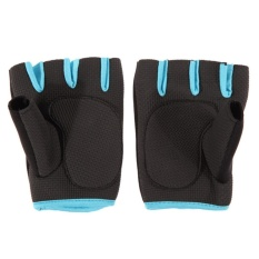 Ladies Weight Lifting Gloves Neoprene Gym Training Body Building Fitness Straps Blue 7-8.5cm