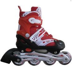Lakoka Sepatu Roda Anak Dewasa Model Inline Bajaj Size L Merah Lakoka Diskon 40