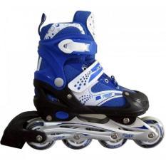 Lakoka Sepatu Roda / Mainan Anak / Dewasa Model Inline / Bajaj Size L [Biru]
