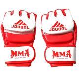 Spesifikasi Lalang 1 Pair Setengah Jari Fighting Tinju Sarung Tangan Untuk Muay Sanda Tinju Kompetisi Pelatihan Merah Putih Paling Bagus