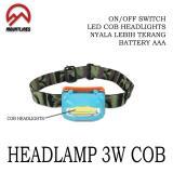 Harga Lampu Headlamp Cob Led Plasma Senter Kepala Keg Outdoor Camping Caving Mountlines Indonesia