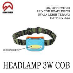 Spesifikasi Lampu Headlamp Cob Led Plasma Senter Kepala Keg Outdoor Camping Caving Murah