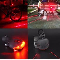Beli Lampu Laser Sepeda Belakang Bike Cycling Bicyle Tail Light Laser 5Led 2Laser Flashing Original