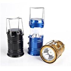 Lampu Lentera Senter Emergency LED Solar Rechargeable - Hitam