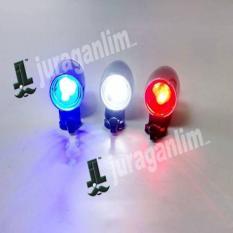 Lampu Peringatan/Warning Light Mini Untuk Sepeda/Motor - LED [2 Mode]