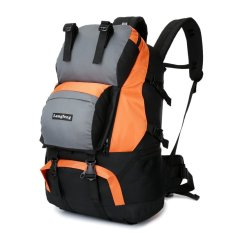 Harga Langfeng 50L Outdoor Multifunction Backpack Mountaineering Hiking Camping Traveling Travel Bag Orange Oem Terbaik