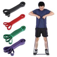 Harga Latex Pull Up Resistance Fitness Stretch Bands Yoga Exercise Loop Elastic Strap Black Intl Online