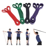 Beli Latex Pull Up Resistance Fitness Stretch Band Latihan Yoga Loop Tali Elastis Merah Murah