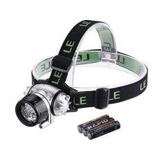 LE CREE Headlamp LED Senter untuk Berkemah, Berlari, Hiking, Membaca, 4 Mode LED Lampu Depan, Battery Powered Helm Light, Handsfree Camping Headlight, 3 Baterai AAA Termasuk