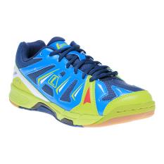 Jual League Altius Sepatu Badminton Dark Deninm Swedish Blue Lime Baru