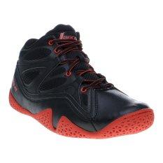 League Ballistic Sepatu Basket - Hitam-High Risk Red