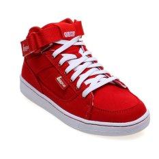 Spesifikasi League Geof Cvs M Sepatu Lari Pria High Risk Merah Putih Lengkap
