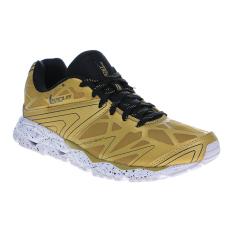 League Ghost Runner Sepatu Lari - Black-Gold-White