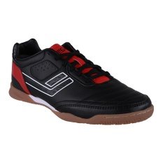 League Legas Series Meister LA Sepatu Futsal - Black-Flame Scarlet-White