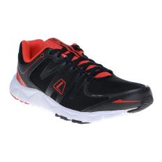 League New Volkov M Sepatu Lari - Hitam-High Risk Red-Putih