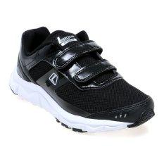 Model League Phantom Kids Velcro Running Shoes Sepatu Lari Pria Hitam Putih Terbaru
